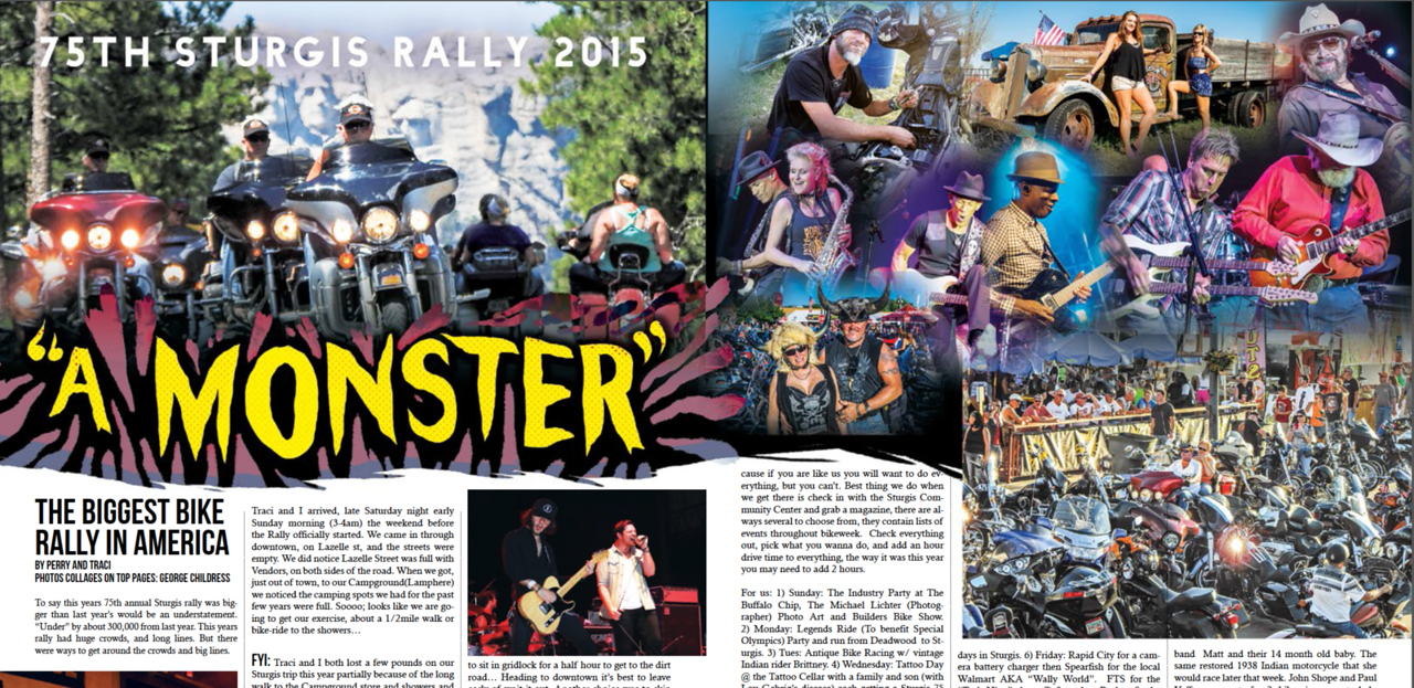 September 2015 Quick Throttle Sturgis Coverage - 7 page double truck layout