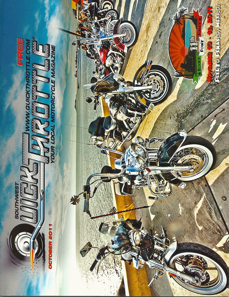 October 2011 Quick Throttle Magazine Cover Shot featuring the Rocky Point Rally