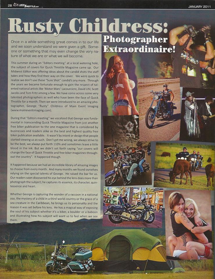 Nice tribute piece Quick Throttle Magazine did on me