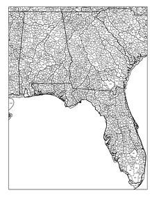 Florida, Alabama, Georgia watersheds
