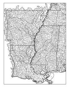 Mississippi, Louisiana, and Arkansas watershed