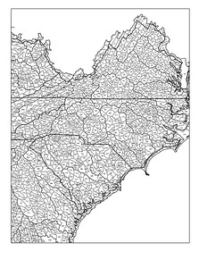 Virginia, North Carolina, and South Carolina watersheds
