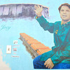 Joey Moss<br /> by Ian Mulder<br /> <br /> 7016-99 St (Russel Metals)<br /> <br /> Mural created in 2008