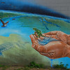 Our Natural Home<br /> by Kris Friesen<br /> <br /> 10010-168 St (Westside Automotive)<br /> <br /> Mural created in 2010