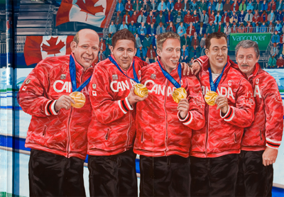 Team Martin Mural<br /> By Kris Friesen, created 2011<br /> <br /> Avonair Curling Club<br /> 10607 Princess Elizabeth Avenue
