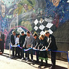 World on Whyte Ribbon Cutting<br /> The mural, World on Whyte, by street artists Trevor Peters and Shane Berney, is an abstract collage of the landmarks, activities and culture Whyte Avenue is known for. September 27, 2012