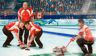 Team Martin Mural<br /> By Kris Friesen, created 2011<br /> <br /> Avonair Curling Club<br /> 10607 Princess Elizabeth Avenue