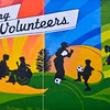 Celebrating Volunteers<br /> by Jess Hogan and Nina Partridge<br /> <br /> 11801-48 St<br /> <br /> Mural created in 2009