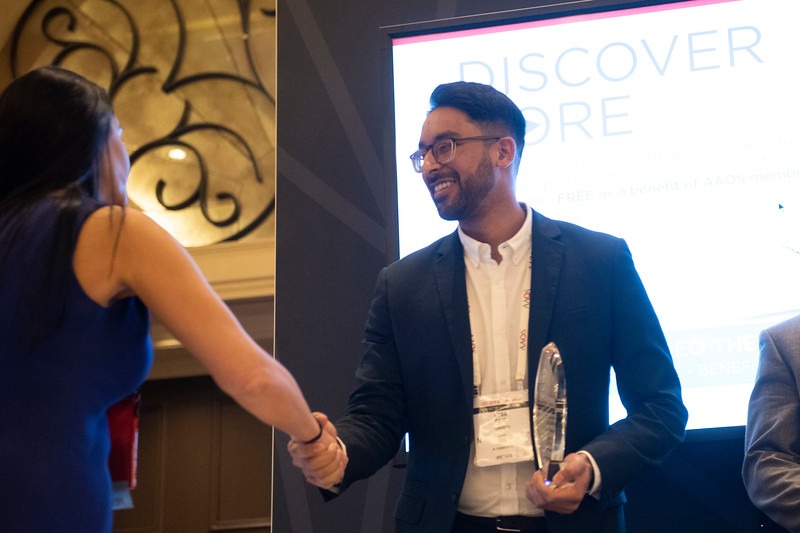Winners accept their awards  during \Orthopaedic Video Theater Awards\