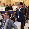 Attendees during Adult Reconstruction Hip Poster Session featuring posters from the Republic of Korea, Guest Nation