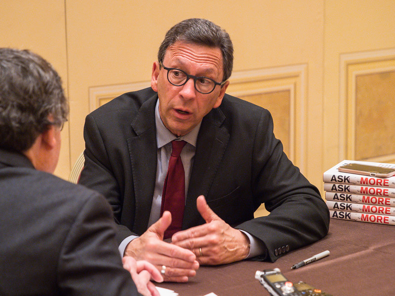 Frank Sesno, Former CNN broadcaster, is interviewed during Presidential Guest Speaker