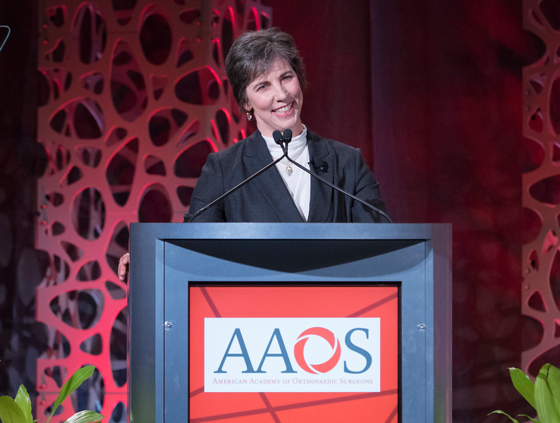 Incoming President Kristy L. Weber, M.D., during Your Academy 2019: Awards Presentation for Kappa Delta & OREF,