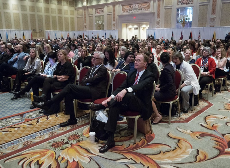 Speakers and attendees during Your Academy 2019: Awards Presentation for Kappa Delta & OREF,