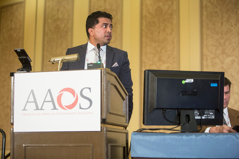 Jeeten Singha, DPM, presents during Added Value of the Akin Osteotomy in Hallux Valgus Corrective Surgery? An Analysis of Patient-Reported Outcomes in 92 Subjects