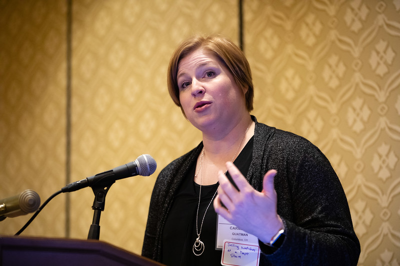 Carmen Quatman, MD, PhD, speaks during RJOS Annual Meeting