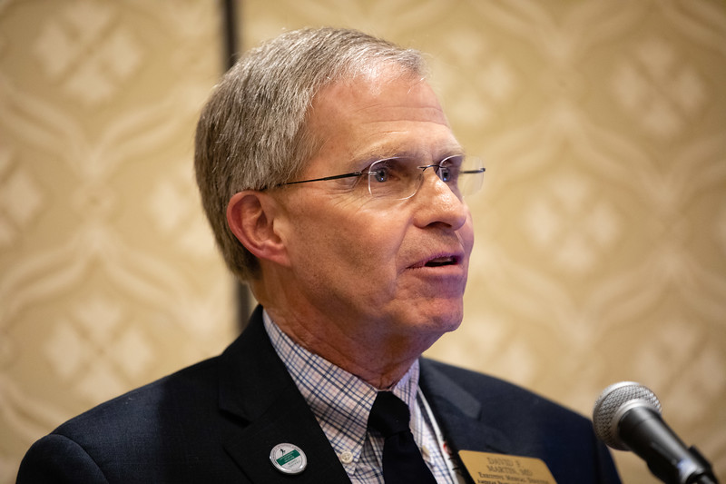 David F Martin, MD, speaks during RJOS Annual Meeting
