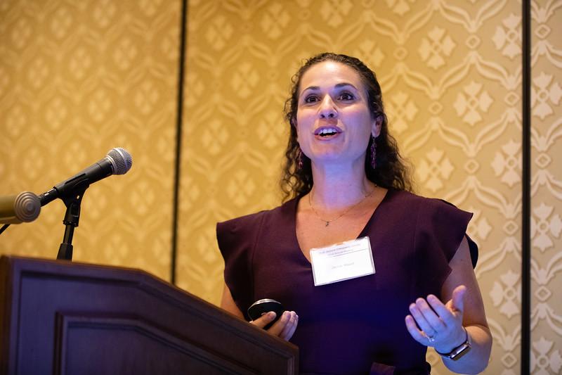 Jackie Mazur speaks during RJOS Annual Meeting