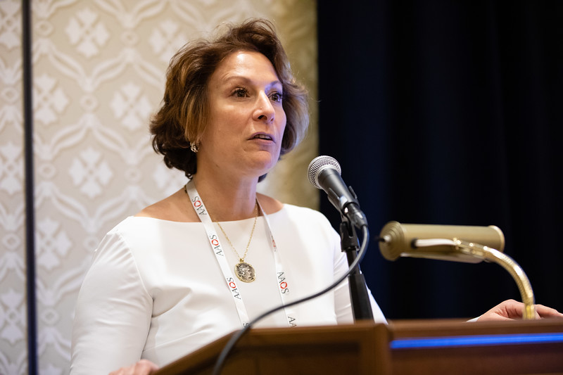 Claudette Lajam, MD, speaks during RJOS Annual Meeting