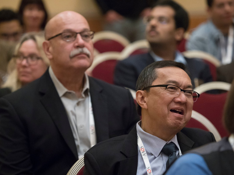 Speakers and attendees during The Aging Surgeon