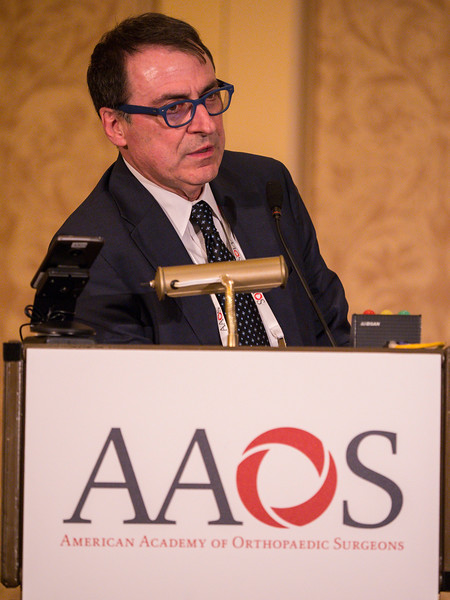 Pietro Ruggieri MD speaks during Analysis of Principles Inspiring Design of 3D Printed Prostheses in Two Referral Centers