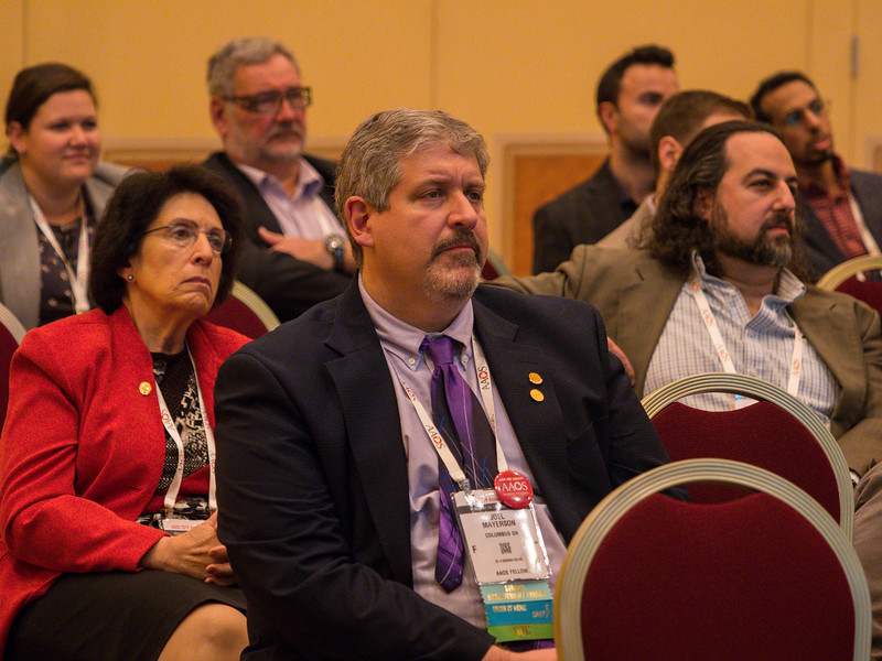 Attendees during session during Analysis of Principles Inspiring Design of 3D Printed Prostheses in Two Referral Centers