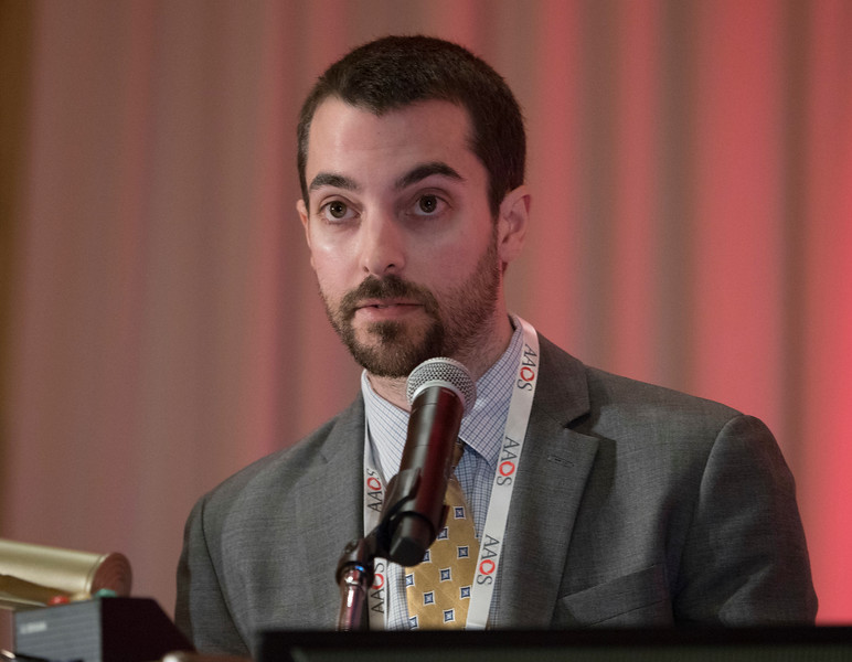 Matthew Kraeutler, M.D., during A Double-Blind, Randomized Controlled Trial Comparing Platelet-Rich Plasma versus Hyaluronic Acid for Early Osteoarthritis of the Hip Joint