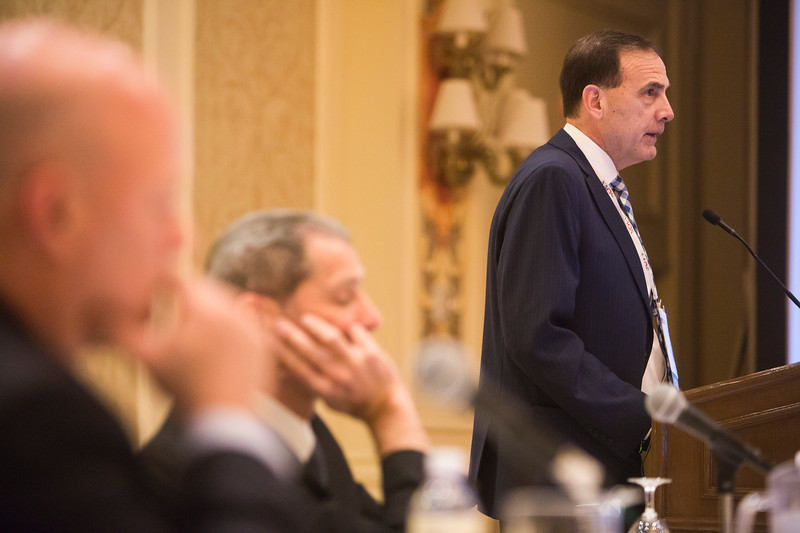Robert C. Spiro, PhD, speaks during Industry Lunch and Learns