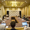 Bryan D. Springer, MD, speaks during Media Round Table(s)
