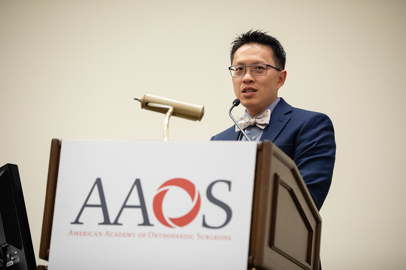 Daniel Wongworawat speaks during Medical Student Program
