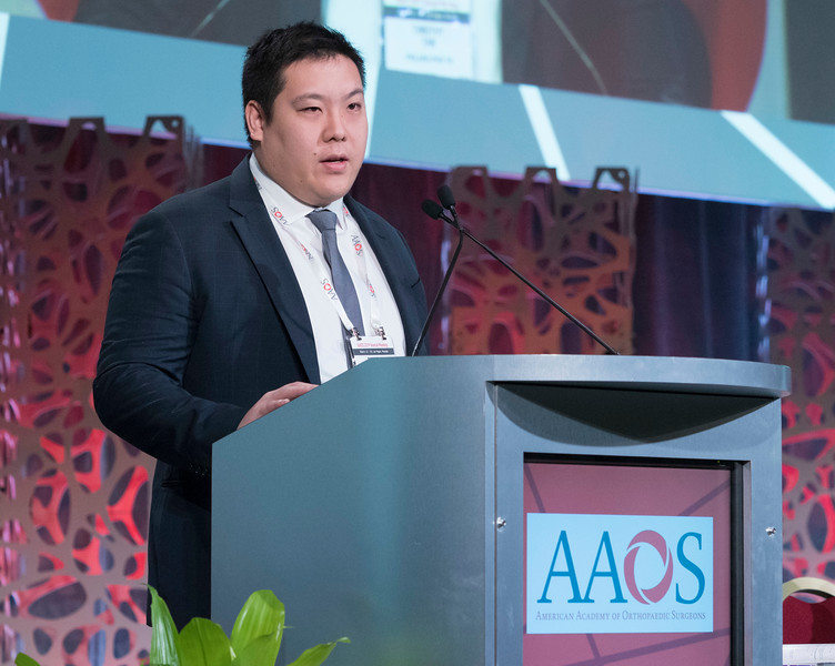 Timothy Tan, M.D., during Perioperative Antibiotic Prophylaxis in Total Joint Arthroplasty: A Single Dose is as Effective as Multiple Doses