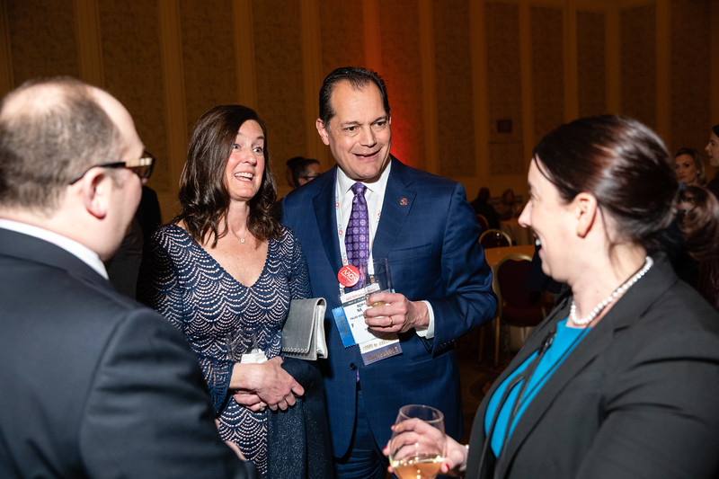 Attendees during President's Reception