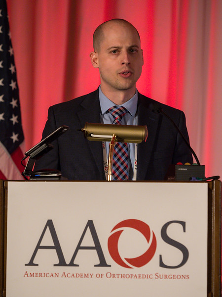 Mario Hevesi, MD speaks during Reoperation, Revision, and Repeat Revision Rates and the Potential Cost-Utility of Knee Preservation in Young Total Knee Arthroplasty Patients