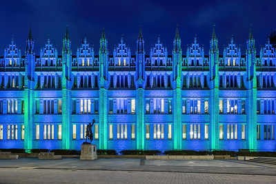 Marischal College, Aberdeen, night photography 012