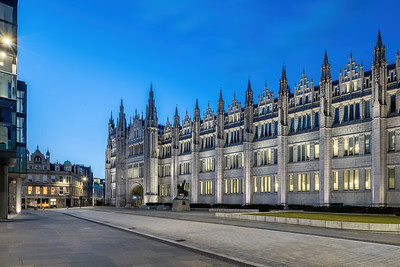 Marischal College, Aberdeen, night photography 003