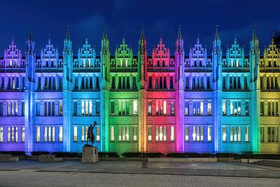 Marischal College, Aberdeen, night photography 013