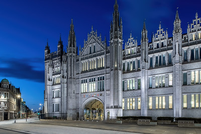 Marischal College, Aberdeen, night photography 015