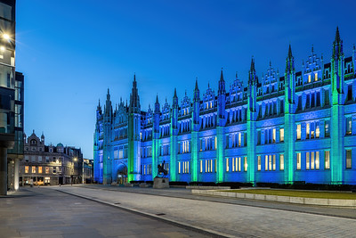 Marischal College, Aberdeen, night photography 006
