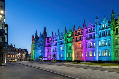 Marischal College, Aberdeen, night photography 007