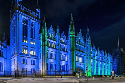 Marischal College, Aberdeen, night photography 024
