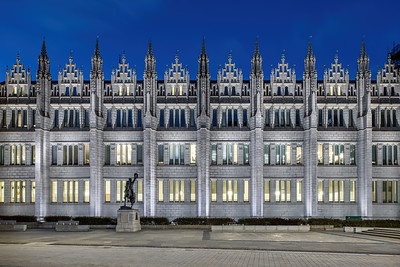 Marischal College, Aberdeen, night photography 009