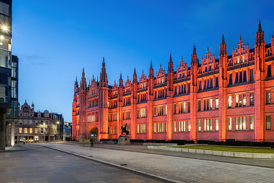 Marischal College, Aberdeen, night photography 004