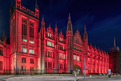 Marischal College, Aberdeen, night photography 023