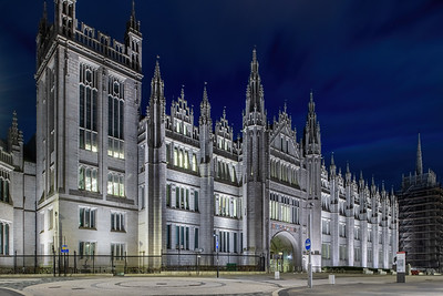 Marischal College, Aberdeen, night photography 021