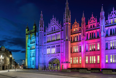 Marischal College, Aberdeen, night photography 019