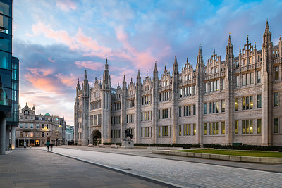 Marischal College, Aberdeen, night photography 001