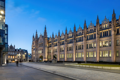 Marischal College, Aberdeen, night photography 002