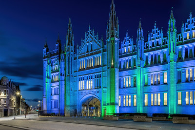 Marischal College, Aberdeen, night photography 018