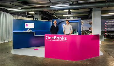 OneBanks kiosk architectural photography
