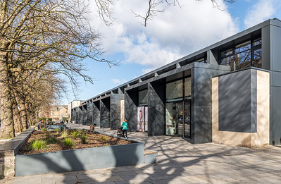 Exterior architectural photography of Stockbridge Stadium by Michael Laird Architects