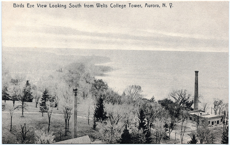 Birds Eye View Looking South from Wells College Tower. (Photo ID: 28005)